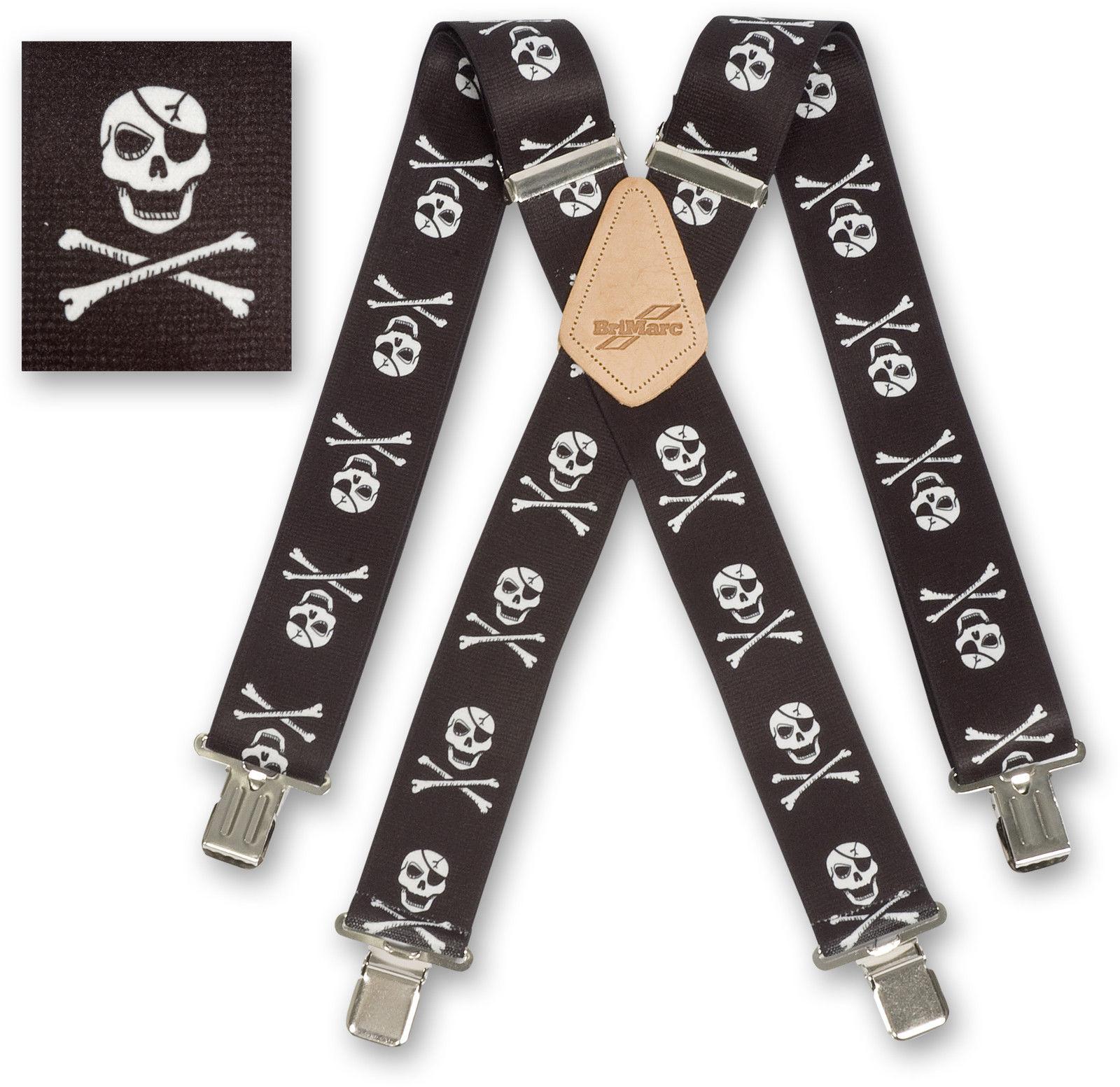 "Brimarc Mens Braces Heavy Duty Suspenders 2/"" 50mm Wide Scotland Braces"