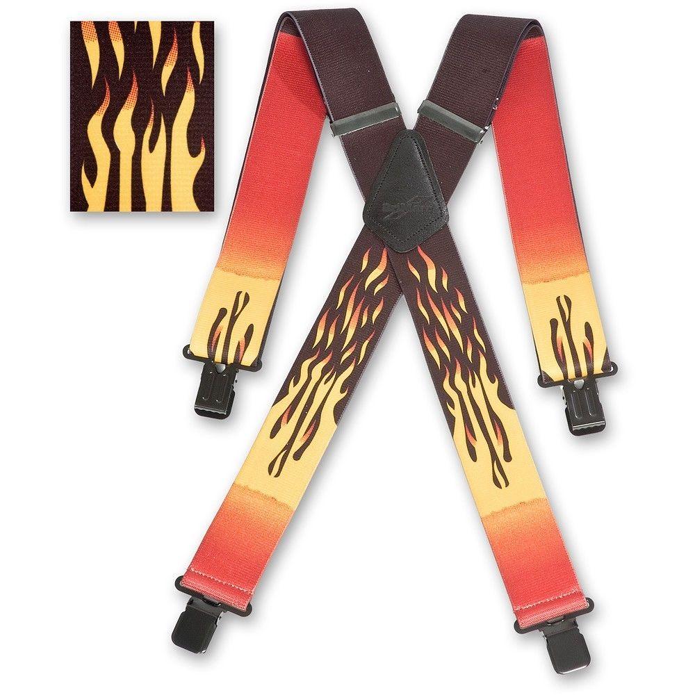 Brimarc Mens Heavy Duty Fishermans Braces Trouser Belt Suspender 2 50mm Wide