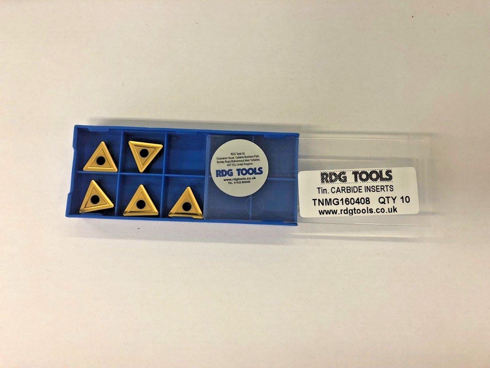 RDGTOOLS TNMA 16 CARBIDE TIPS TURNING TOOLS PROFILE TIPS x5 INSERTS