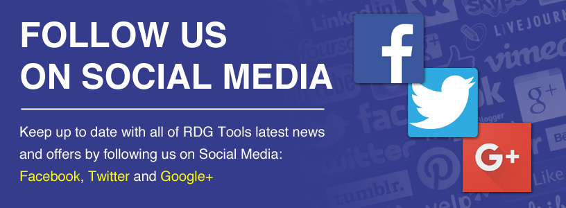 Follow RDG Tools on Social Media