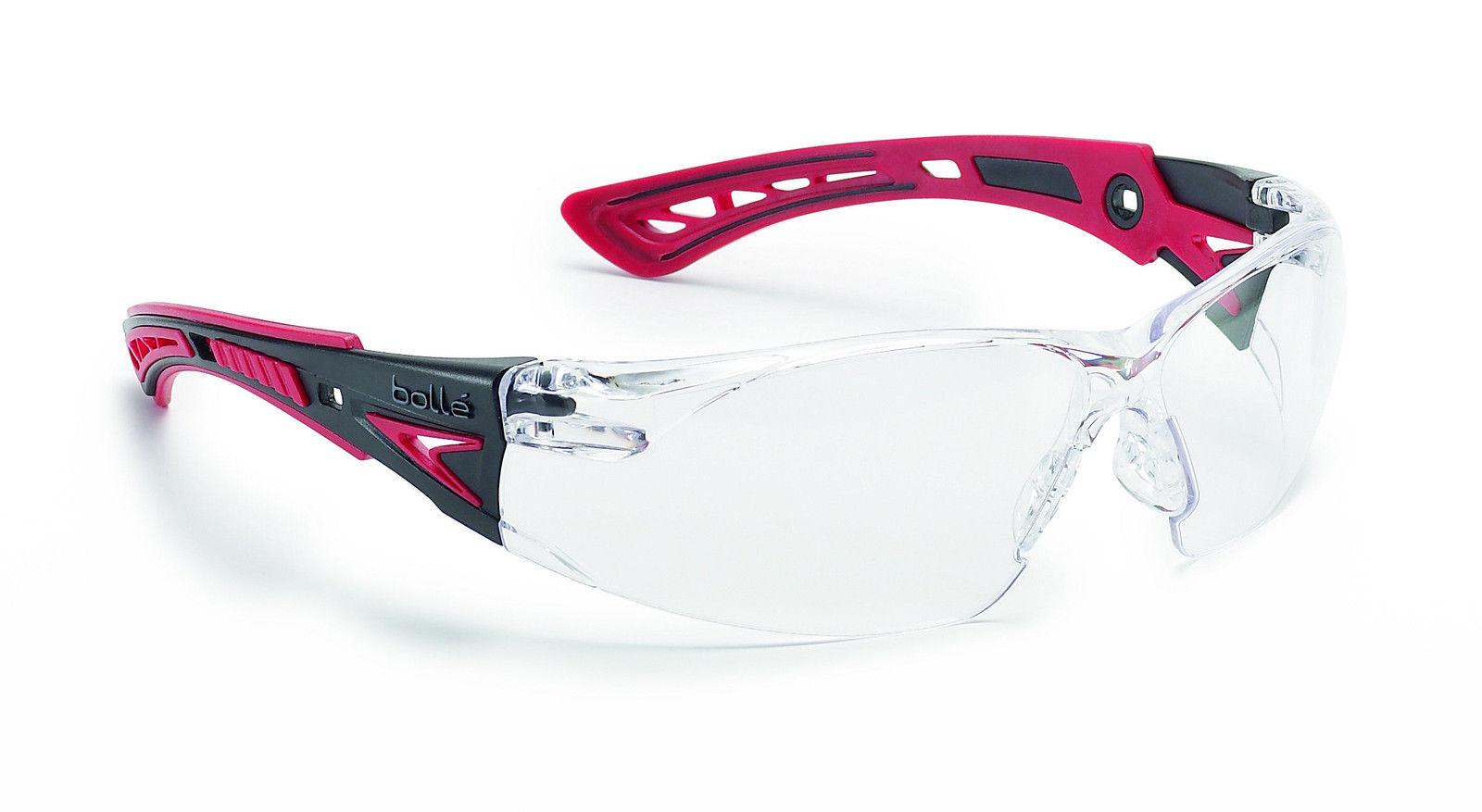 Bolle RUSH+ Safety Glasses - RUSHPPSI - UV Eye Protection - Clear anti fog f84f206ab49b