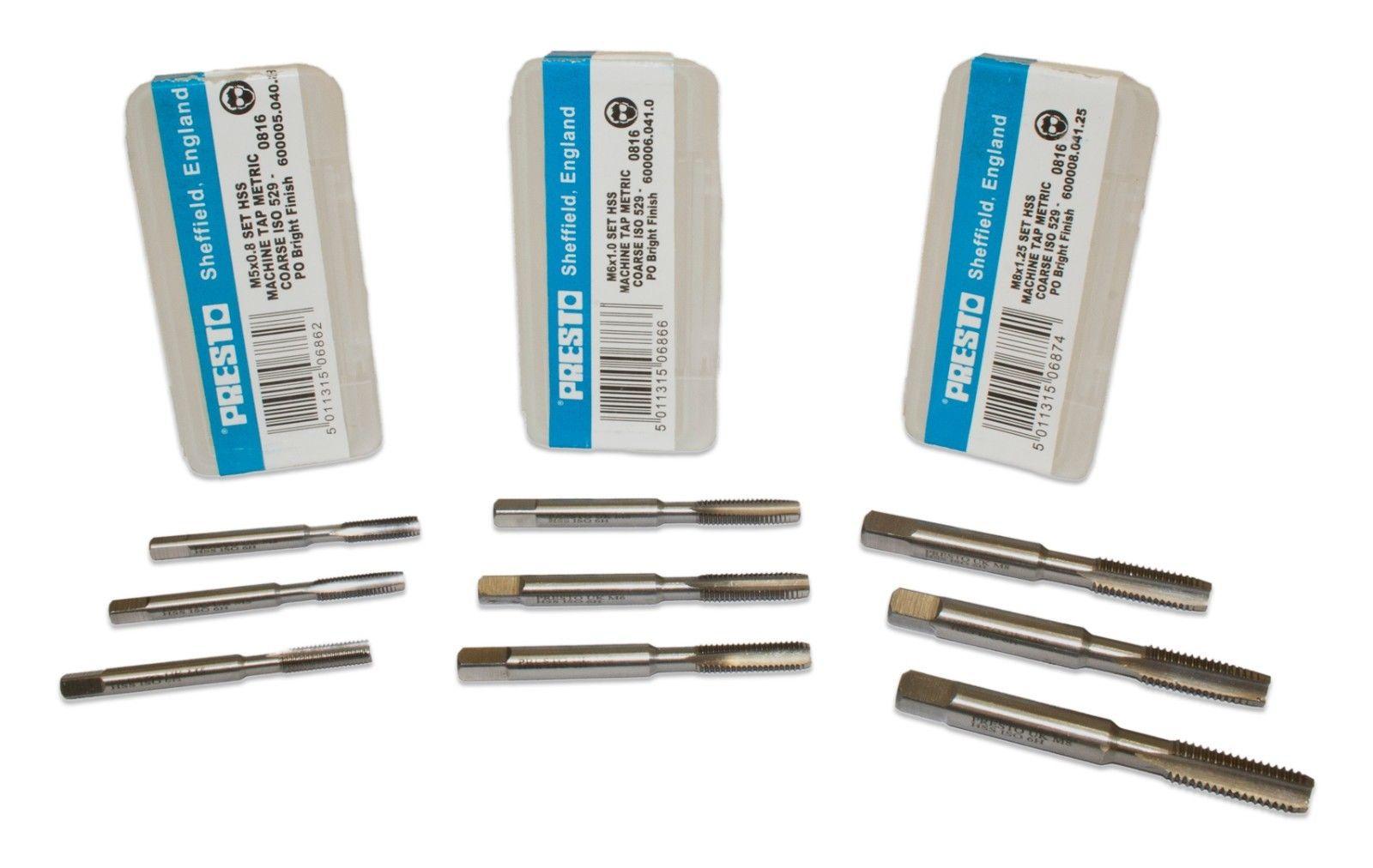 4 Flutes Rocky Mountain Twist 95101054 High Speed Steel Plug Metric Hand Tap D4 H-Limit M5-0.8 Size